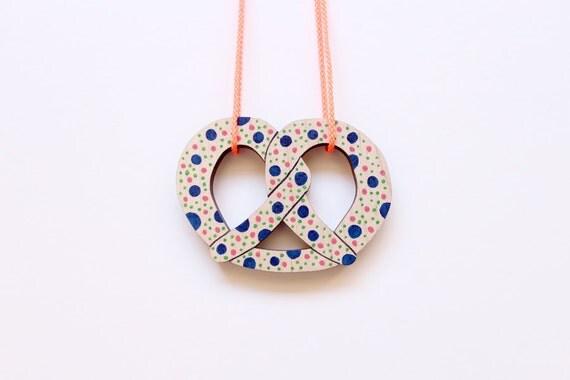Pretzel Necklace - Bakery Series