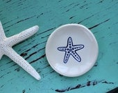 RESERVED for Dory Starfish in Navy Blue on Mini Dish