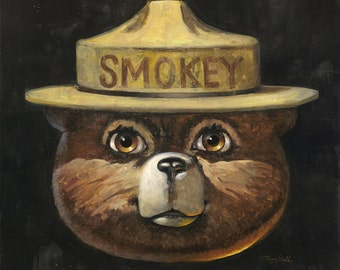 Smokey Bear, Officially Licensed, Signed, Limited Edition Fine Art Print