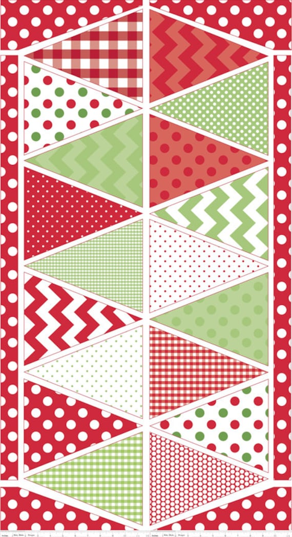 18 flags PANEL Holiday Banner CHRISTMAS from Riley Blake