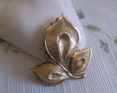 Vintage Monet Golden Leaf Brooch