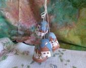 4 Terra- Cotta Western Bells