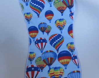 Burp cloth,  Hot Air Balloons bright and cheerful