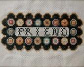 FRIEND Penny Rugg Sampler - cross stitch pattern from Notforgotten Farm