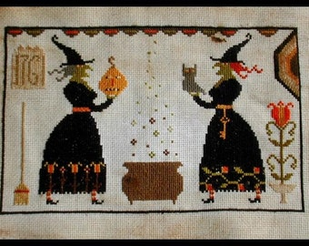 the Giving Sisters - cross stitch PATTERN - from Notforgotten Farm