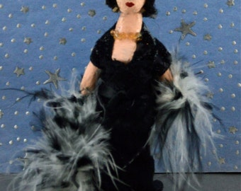 Elizabeth Taylor Doll Art Miniature Movie Star Character