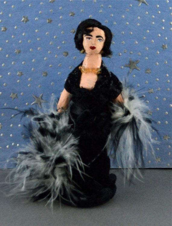 Elizabeth Taylor Doll Art Miniature Movie Star Character