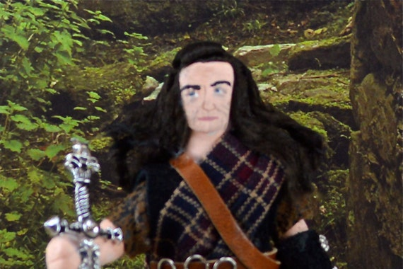 William Wallace Braveheart Doll Miniature Art Historical Character