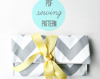Clutch Purse Pattern, Easy Sewing Pattern PDF,  Printable Sewing Pattern, Bag Pattern PDF
