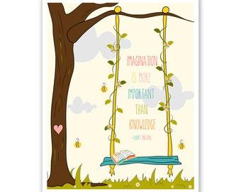 Kids Wall Art Print, Nursery Art, Children Wall Art. Imagination Tree... print by Finny and Zook