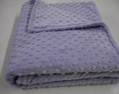 Lavender Minky Double Sided Blanket MADE TO ORDER