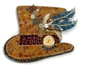 Steam Punk Top Hat Art With Working Clock Steampunk Coupon