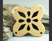 Coconut pendant, wood pendant, inlay wood