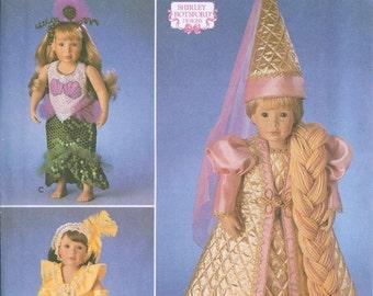 Simplicity 8323 American Girl 18 Inch Doll Dress Sewing Pattern Renaissance Gowns Mermaid Rapunzel