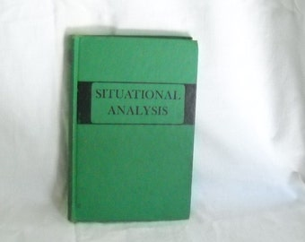 Vintage Book Situational Analysis Lowell Juilliard Carr 1948 Harper & Brothers