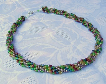 Indian Summer spiral rope necklace
