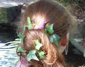 Ivy Bobby Pins/Fairy Wedding/Hand-fasting/Ivy Fairy/Hair pins