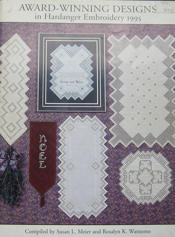 Award Winning Designs In Hardanger Embroidery 1995 Book