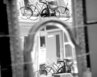 Amsterdam photo, bike photo, bicylce print, tour de france, neutrals, bikers, cycling, black and white