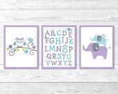 Elephant Owl Alphabet Nur...