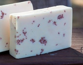 Handmade Shea Butter Soap - Plumeria Soap with Hawaiian Alaea Salt // Gifts for Her