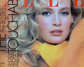 Elle October 1987 Estelle LeFebure Charlie Sheen  Glenn Close