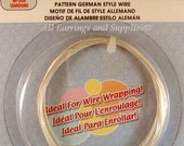 Silver Plated Wire German Style Spiral Pattern 20 Gauge - 6.5 ft - 6337
