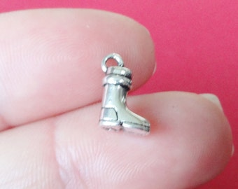 10, Boot Charms (3D) 11x7x4mm, Hole: 1mm