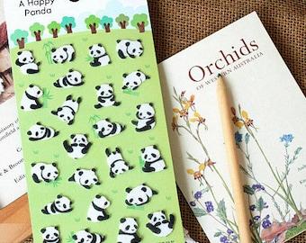 Felt Stickers (P163.35 - Happy Panda)
