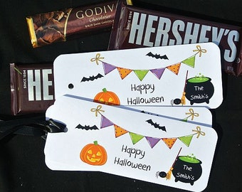 Halloween Party Favors - Personalized Halloween Party Favors - Halloween Candy Wrappers - Halloween Decoration - Halloween Favors
