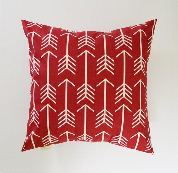 Red Pillow Cover Decorative Pillows Arrow Throw Pillows
