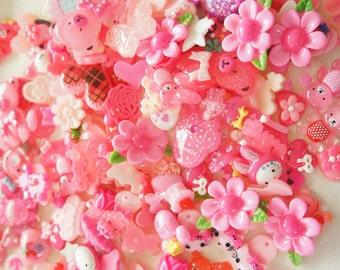 15 pcs Assorted Pink Cabochon Set No.28