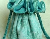 Tonal Aqua Travel Jewelry Bag, Pouch, Travel Organizer