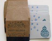 Teeny Envelopes with Teeny NoteTags - Happy Holidays - Set of 12