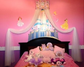 Disney Princess TiArA CROWN Crib Canopy Cornice Bed PERSONALIZED FrEE Belle Cinderella Sleeping Beauty So Zoey Boutique Twins Sisters SaLe