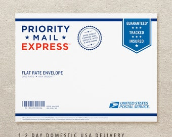 1-2 Day US Expedited Rush Overnight Shipping with Handmade Notepad - FlytrapOnE (EXP-USA)