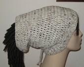 Dread Sock Tam/Crochet Hat In Aran Fleck