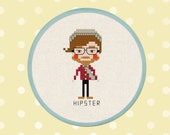 Hipster Boy. Cross Stitch PDF Pattern