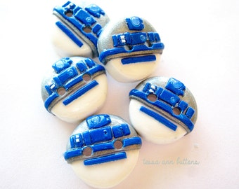 NEW Design-  R2D2- (set of 5) You choose size