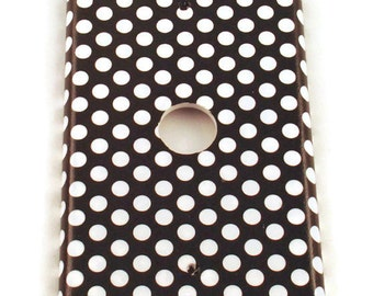 Light Switch Plate Cable Plate Cover in  Polka Dots Rock (207C)