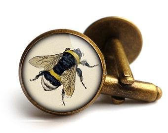 Vintage Bee Cufflinks (ER04)