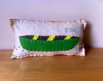 Green Canoe Pillow