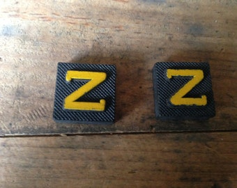 Vintage Wood Anagram Game Pieces, Z Initial, Create your own word or saying, Word Art, Home Decor, Custom Order