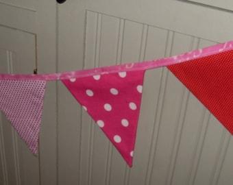rainbow polka dot fabric flag banner teacher classroom office