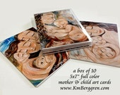 mother and child blank cards - Variety box of 10 5x7 Motherhood-Themed cards