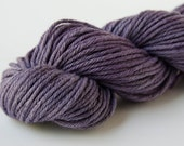 Hand Dyed Pima Cotton & Merino Wool Aran Weight Yarn - Purple Heather - Lavender OOAK