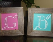 5 Small 3x3 Framed Chalkboards for table numbers FREE SHIPPING
