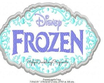 Frozen Logo Machine Embroidery Applique Design Digital Download