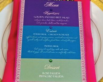 24 Bejeweled Food Menu Cards