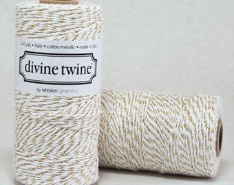 CLEARANCE Metallic Gold Divine Twine - Baker's Twine